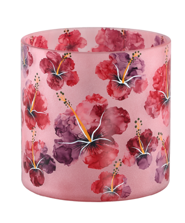 PTMD Denise Roze glazen theelicht hibiscus groot
