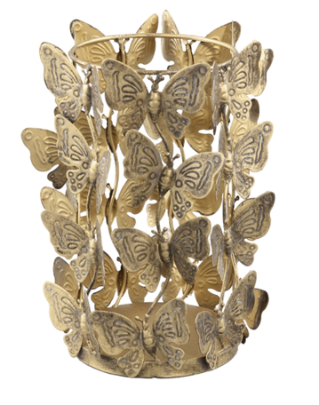 PTMD Butterfly Gold windlicht vlinders