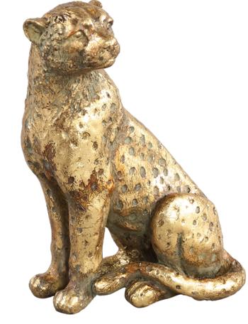 PTMD luipaard polystone goud klein