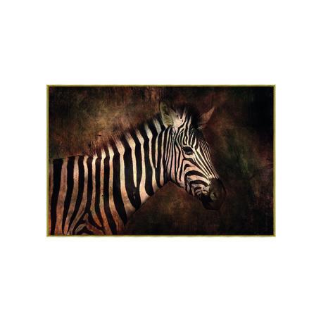 PTMD Melani Glass Art foto zebra rechthoek