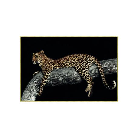 PTMD Melani Glass Art foto luipaard in boom
