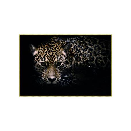 PTMD Melani Glass Art foto luipaard rechthoek