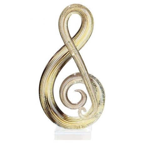 sculptuur muzikaal glas