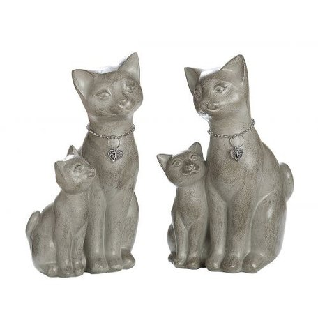 zittende katten met jong