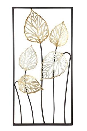 Wanddecoratie Blad goud/bruin/zilver