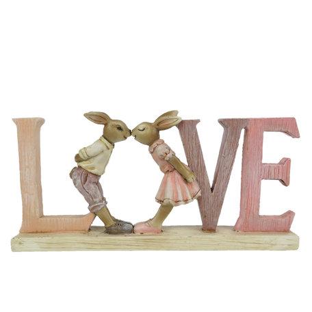 Decoratie konijn Love