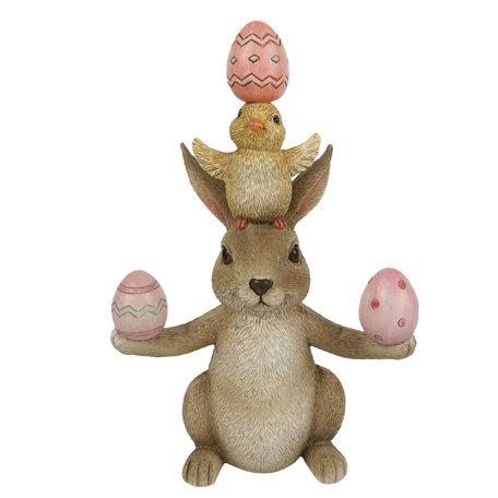 Decoratie konijn en kuiken