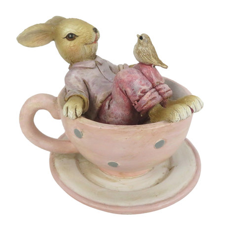 Decoratie konijn en vogel