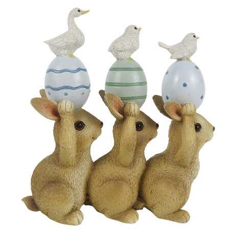 Decoratie konijnen vogels