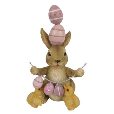 Decoratie konijn kuikens
