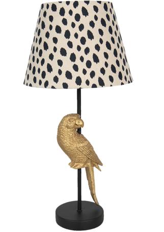 Tafellamp papegaai met kap