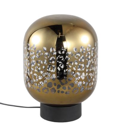 PTMD Shevon Goud tafellamp glas met luipaard print