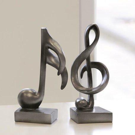 Design sculptuur muziek 18cm hoog