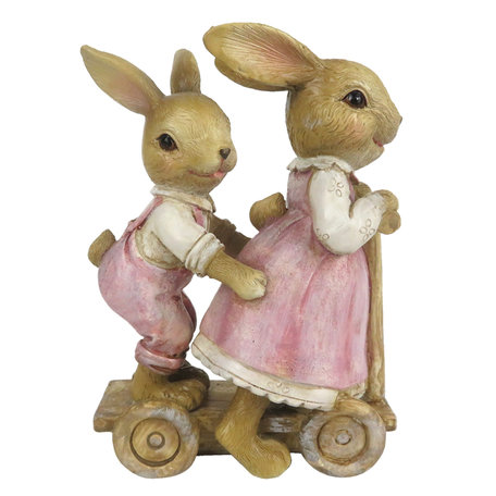 Decoratie konijn kar