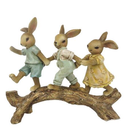 Decoratie konijnen op tak