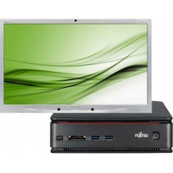 Fujitsu Esprimo Q920 Mini PC  Intel Core i5-4590T 8GB 240GB SSD Win 10 Philips Beeldscherm 24 Inch