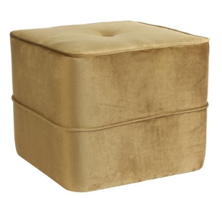 Poef 40x40x35 cm KIKI mat velvet karamel