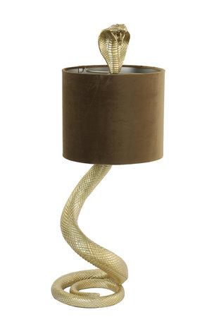 Tafellamp 27x25x68 cm SNAKE licht goud+velvet karamel