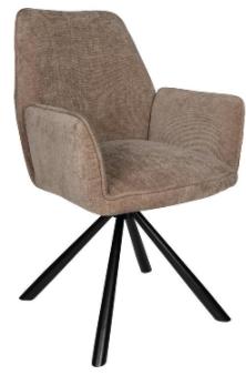 PTMD Vicky velvet chair bruin