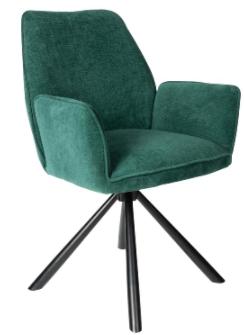 PTMD Vicky velvet chair groen