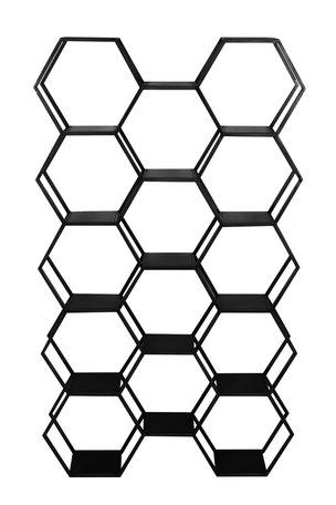 Kast open 100x24,5x179 cm HUAL mat zwart