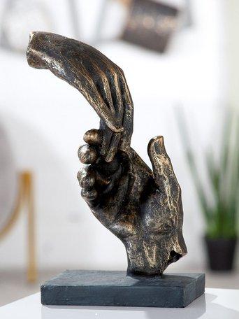 sculptuur 2 handen brons
