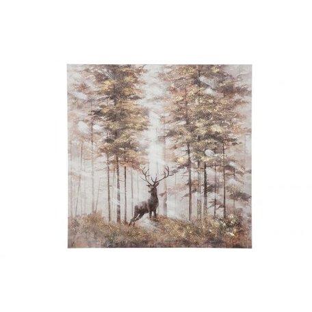 Canvas schilderij 'hert in de natuur