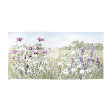 Canvas wilde bloemen