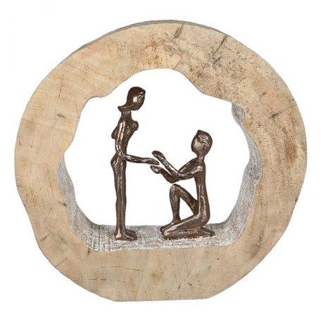 sculptuur mangohout aanzoek