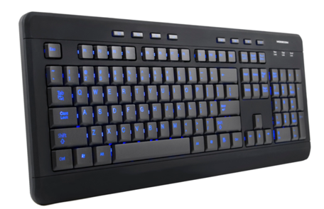 ModeCom MC-9006 multimedia backlit keyboard (bedraad)