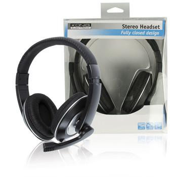 König gesloten stereo headset