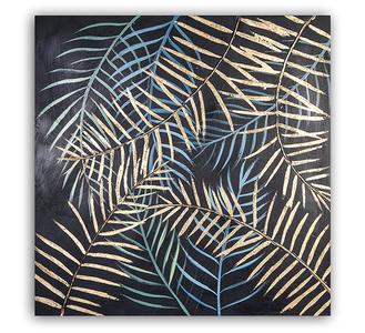 Canvas schilderij 'Varens' 80x80cm