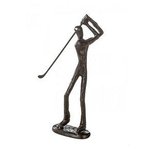 """Sculptuur """"Golfer ijzer"""