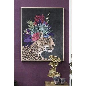 Canvas schilderij luipaard