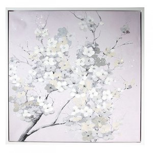 Canvas schilderij  bloemen op tak