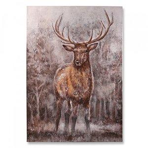 Canvas schilderij  hert