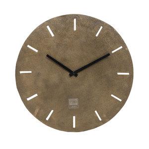 PTMD Lexis Antique brass aluminium clock round s