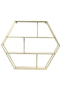 Wandkast open 91x17,5x75 cm AVERSA goud