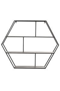 Wandkast open 91x17,5x75 cm AVERSA zwart