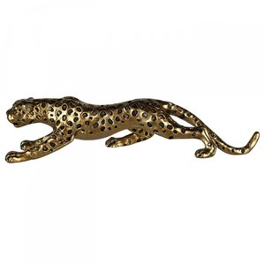 Decoratie cheetah goudkleurig 34cm