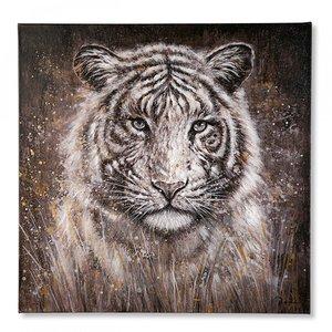 Canvas tijger handgeschilderd
