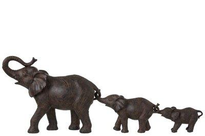 Sculptuur olifanten rij 83cm