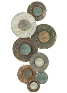 Wanddecoratie Cirkels Metaal Groen/Bruin