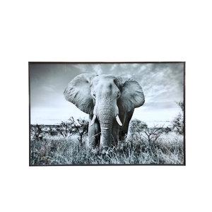PTMD Melani Glass Art wall picture elephant big