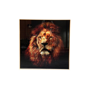 PTMD Melani Glass Art wall picture lion square