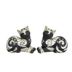 Liggende katten zwart goud