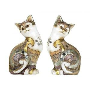 zittende  katten  gekleurd