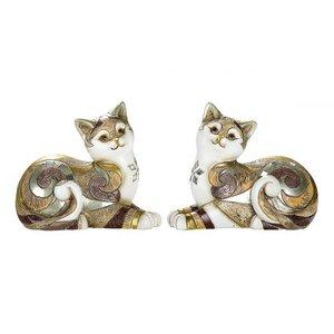 liggende   katten  gekleurd